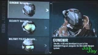 Halo Reach:Highest Skill Rank, All Unlockables, Haunted Helmet