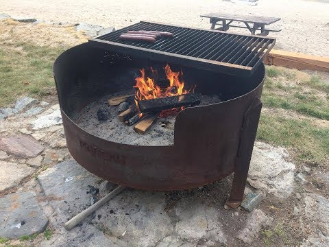 Large Simple Do It Yourself Fire Pit - Made From Recycled Steel