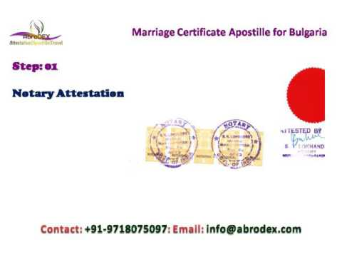 Marriage Certificate Apostille for Bulgaria