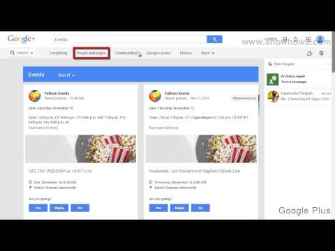 Google+ - How To Follow An Event People And Pages