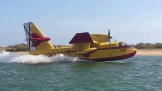 Hidroaviones que han combatido el incendio de Cartaya
