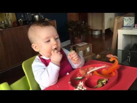 Baby led weaning - Brussel sprouts at 6 months