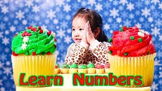 Learn numbers with Christmas Cupcake