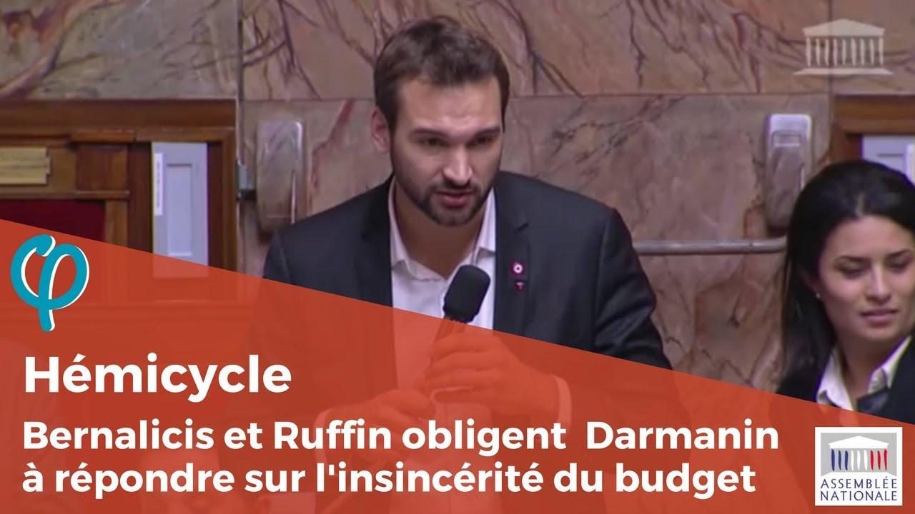 Ugo Bernalicis et François Ruffin obligent G. Darmanin à répondre sur l'insincérité du budget 2018