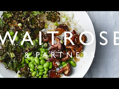 Shiitake Mushroom and Crispy Kale Rice Bowls | Waitrose