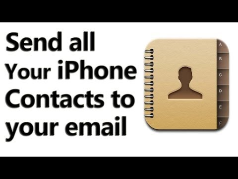 How to Send All iPhone Contacts to your email-ID