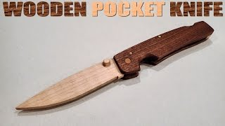 How To Make A Wooden Pocket Knife With Hand Tools