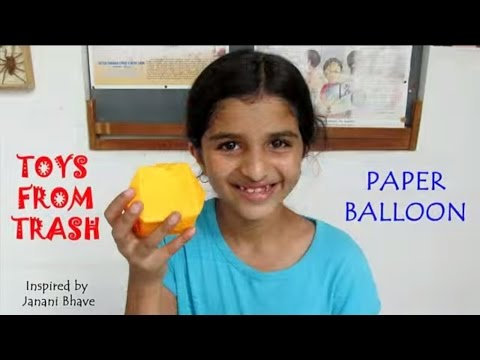 PAPER  BALLOON | ENGLISH | Simple Origami!