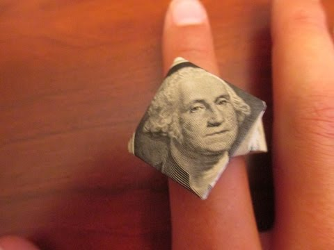 How to make an Origami $1 Diamond Ring