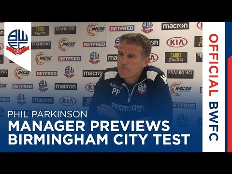 60 SECONDS | Manager previews Wanderers' Birmingham City test
