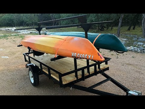 Building a Kayak Trailer - Hauls Four Kayaks