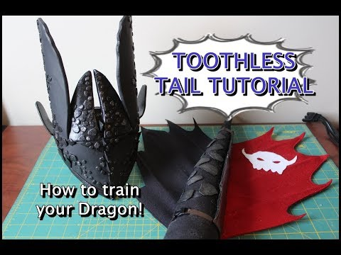 How to train your dragon costume: Toothless tail with real prosthetic!