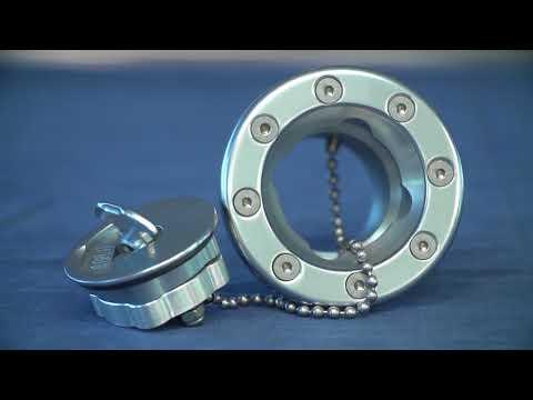 Eddie Motorsports Fuel Caps Gas Fills CNC-machined Billet Aluminum Polished Powder Coated
