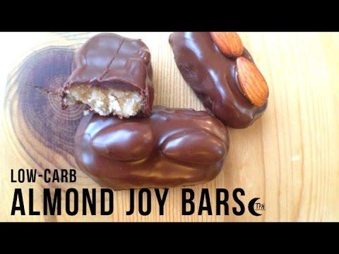 Keto Almond Joy Bars | Low-Carb Mounds Bar + Bounty Bar | Sugar-free Coconut Candy Bar