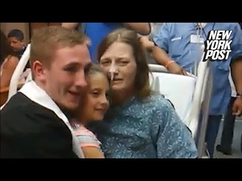 Son brings his high school graduation to his dying mom | New York Post
