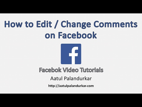 How to edit comments on Facebook?