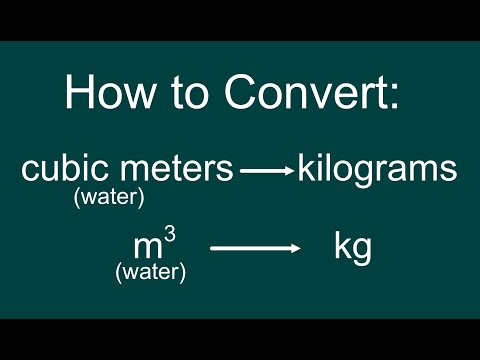 Converting a Volume of Water (cubic meters) to Mass (kg) & Weight (N)