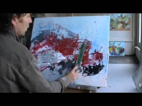 Instructional. Learn To Paint Abstract Painting Intuitive by Jan van Oort