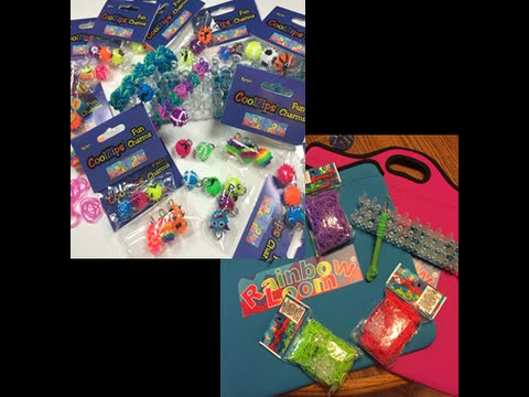 Our Review on CoolZips.com Rainbowloom loom bags and loom bracelet charms.