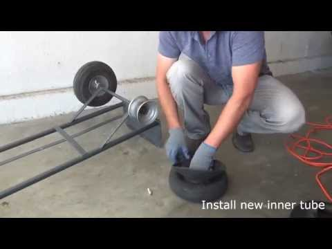 How to change flat tire on a moving dolly / Dolly repair/ Dolly Fix
