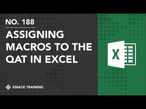 Assigning Macros to the Quick Access Toolbar in Excel | Everyday Office 078