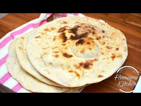 Naan Recipe On Tawa Without Yeast | Ramzan Recipe - Naan without Yeast | Naan Recipe without Tandoor