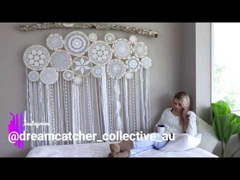 Crochet Dreamcatcher Wall Mural - Boho Decor