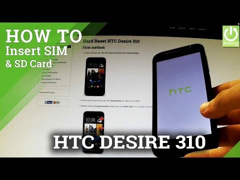 How to insert SIM card and Micro SD card in HTC Desire 310 - Install SD & SIM Card