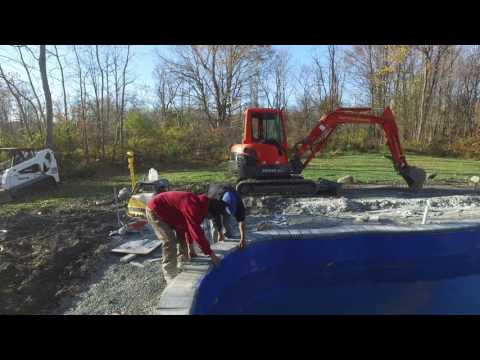 How to install bullnose paver coping on a swimming pool.