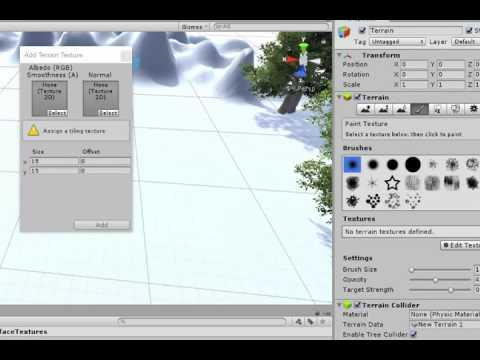 Applying a terrain texture in Unity
