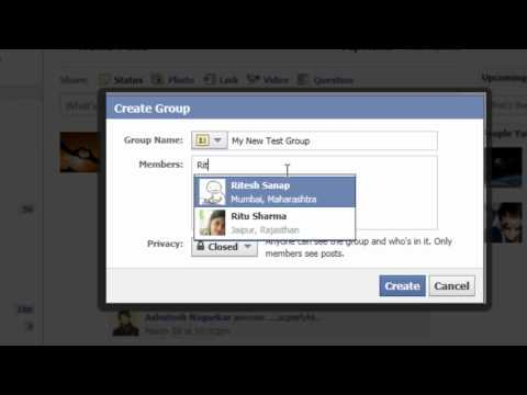 How to create/Make Secret group in FaceBook
