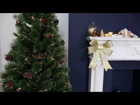 Revolving Warm White Fibre Optic Christmas Tree - FT161157