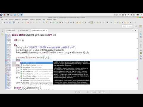 26  JAVA EE Servlets  get ID database Student SQL