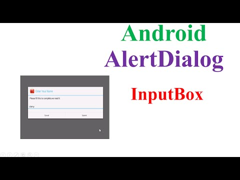 Android Dialog -With Text Input