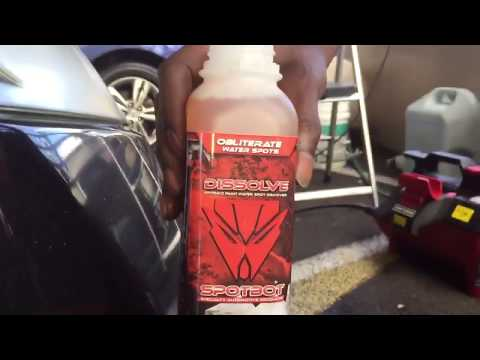 How To Get Water Spots Off Car Paint - Spotbot Dissolve