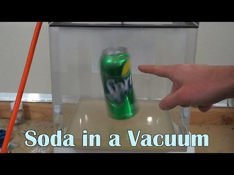 What Happens When You Put A Can Of Soda In A Huge Vacuum