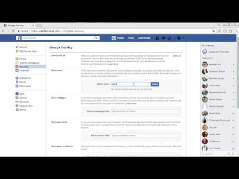 how to Block any Friend, message, page, invite, group in facebook