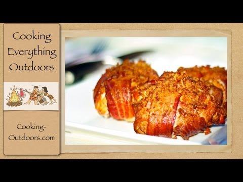 Smoked Bacon Wrapped Chicken Cordon Bleu   Super Bowl Recipe   Cooking Outdoors   Gary House