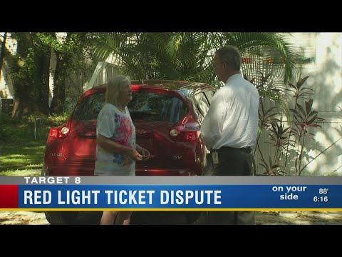 Red light ticket dispute