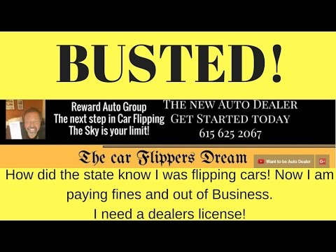 The state busted me for flipping cars without a dealer's license