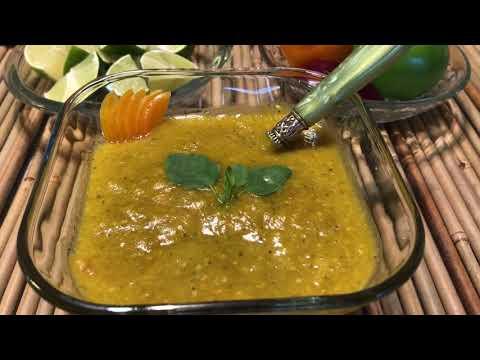 Salsa De Chile Manzano,Receta Deliciosa!