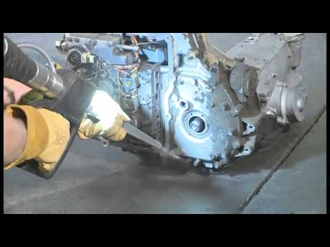 Dry Ice Blasting -- Engine Block