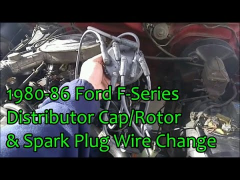 1980-86 Ford F-Series Spark Plug Wires, Distributor Cap & Rotor