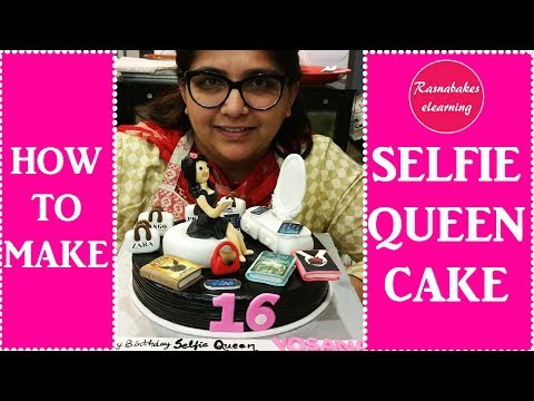 how to make selfie queen cake decorating tutorial: Amazing cake for girls
