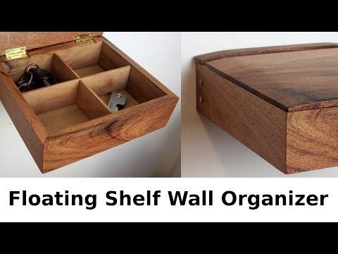 Floating Wall Shelf Organizer Box