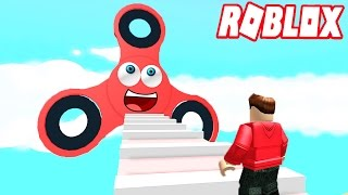ESCAPE THE GIANT EVIL FIDGET SPINNER OBBY! (Roblox Adventures) RedHatter