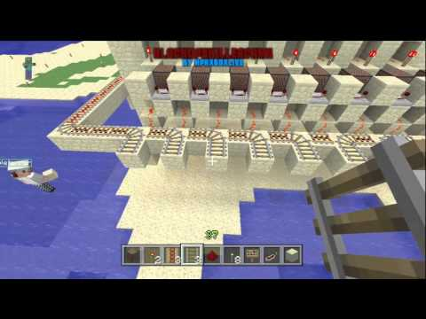 Minecraft Redstone Minecart Station / Hub / Depo Build Time-Lapse (Xbox 360 Edition)