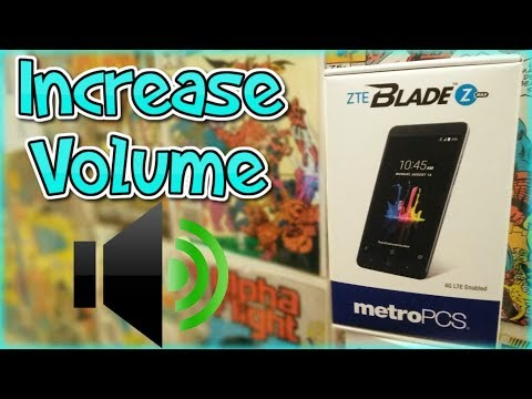How To Increase Volume | ZTE Blade Zmax + ZTE Devices