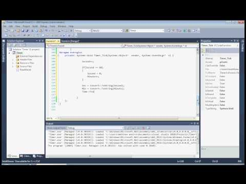 Visual C++ - Timer using Windows Form