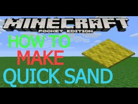 MCPE HOW TO MAKE QUICK SAND
